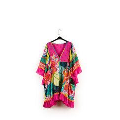 Caftano de niña multicolor en tejido, 150500001TSMULT6, 001a