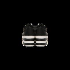 Sneakers nere con suola platform a righe 6 cm, Scarpe, 12A777615LYNERO, 003 preview