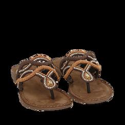 Ciabatte infradito testa di moro in raso , Chaussures, 15K808010RSMORO035, 002a