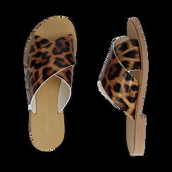 Mules flat leopard in vernice, Saldi Estivi, 136767002VELEMA035, 003 preview