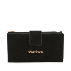 Portefeuille noir en microfibre, Primadonna, 165122158MFNEROUNI, 001a