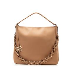 Maxi bag cuoio in eco-pelle con tracolla decor, Borse, 133881161EPCUOIUNI, 001a