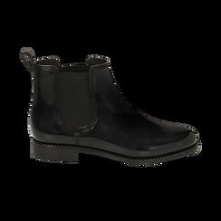 Stivali per la pioggia neri in pvc, Stivaletti, 148815144PVNERO036, 001 preview