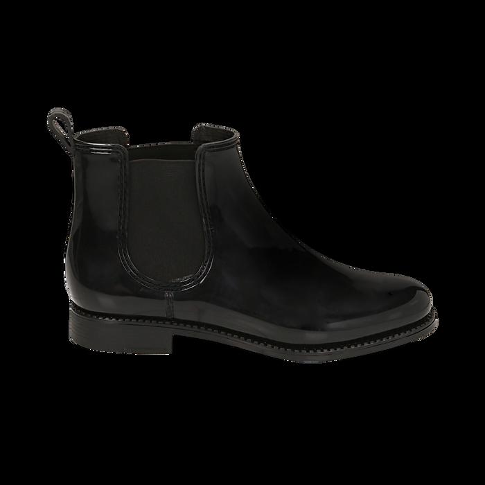 Stivali per la pioggia neri in pvc, Stivaletti, 148815144PVNERO036