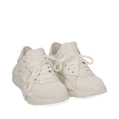 Dad shoes bianche in tessuto tecnico , Sneakers, 15F609059TSBIAN035, 002a