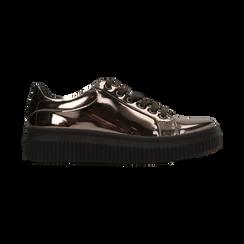 Sneakers canna di fucile  effetto mirror e suola nera, Scarpe, 129312321SPCANN, 001 preview