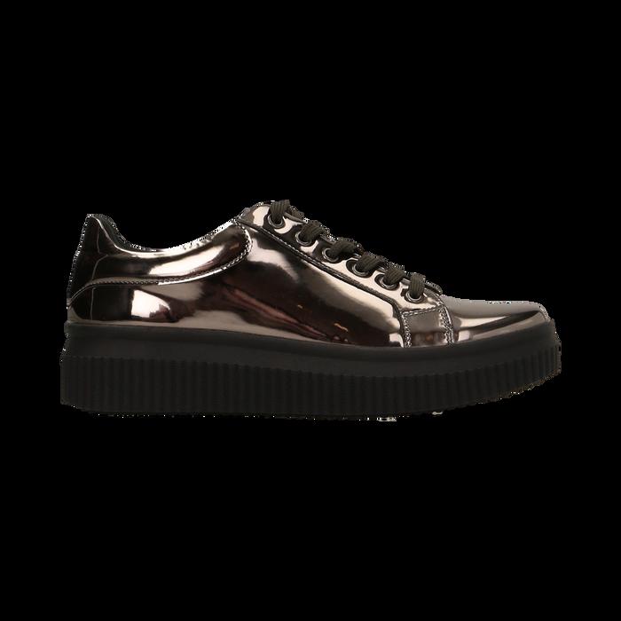 Sneakers canna di fucile  effetto mirror e suola nera, Scarpe, 129312321SPCANN