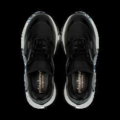 """Sneakers nere con zeppa effetto """"wave"""", Primadonna, 12A600999PENERO, 004 preview"""