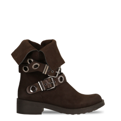 Stivaletti con Fibbie e Borchie - Biker Boots, 12A700272MNMARR036, 001a
