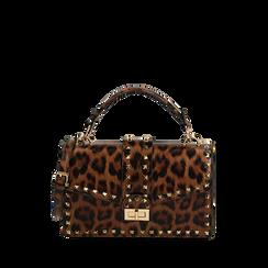 Sac à main clouté léopard, Primadonna, 165122990EPLEMAUNI, 001a