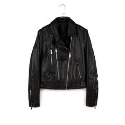 Chaqueta biker en eco-piel color negro, Primadonna, 156501128EPNEROL, 003 preview