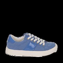 Sneakers de microfibra en color azul, Zapatos, 152619072MFAZZU035, 001a