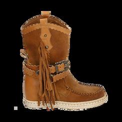 CALZATURA TRONCHETTI CAMOSCIO CUOI, Zapatos, 15A220102CMCUOI036, 001 preview