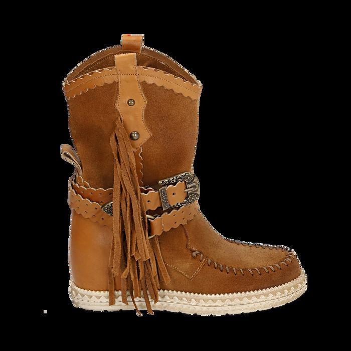 CALZATURA TRONCHETTI CAMOSCIO CUOI, Zapatos, 15A220102CMCUOI036