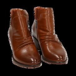 Ankle boots cuoio, tacco 4,50 cm, Primadonna, 150693110EPCUOI036, 002a