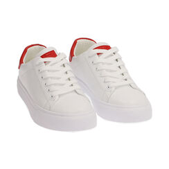 Baskets blanches / rouges, Chaussures, 172621209EPBIRO035, 002 preview