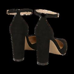 Décolleté microfibra en color negro con tira , tacón 10,50 cm , Zapatos, 152123411MFNERO040, 004 preview