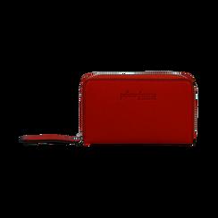 Portafoglio compatto rosso in eco-pelle, Borse, 133731344EPROSSUNI, 001 preview