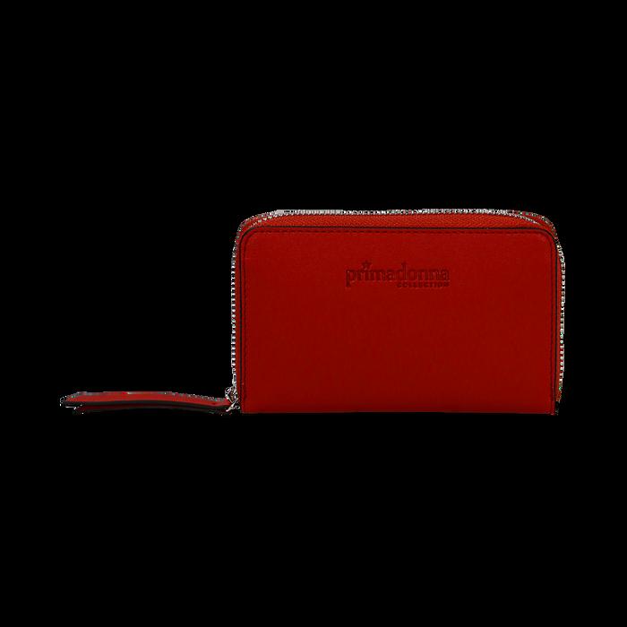 Portafoglio compatto rosso in eco-pelle, Borse, 133731344EPROSSUNI