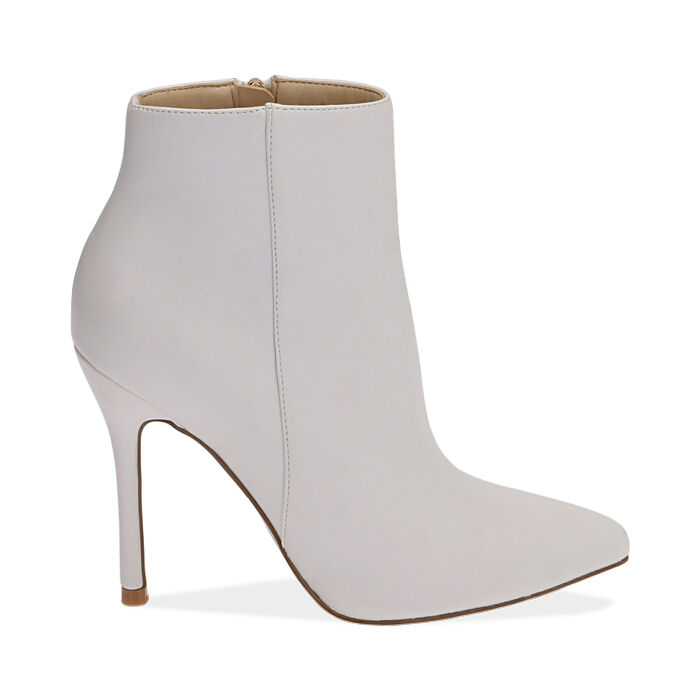 Ankle boots bianchi, tacco 11 cm, Primadonna, 172146816EPBIAN036