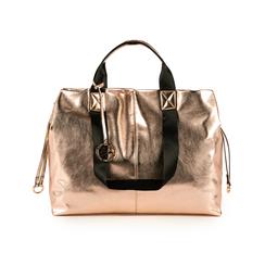 Maxi-bag oro rosa in eco-pelle laminata, Primadonna, 152392506LMRAORUNI, 001a