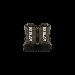 Sneakers verdi in velluto con stelle, Scarpe, 121617684VLVERD, 003 preview