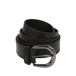 Cintura nera in eco-pelle, Abbigliamento, 144045701EPNEROUNI, 001a