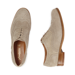 Derbies taupe en Nubuck, Chaussures, 159908418CMTAUP037, 003 preview