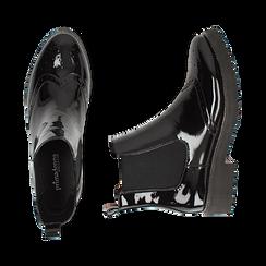 Chelsea boots neri in vernice con lavorazione Duilio, Primadonna, 143055702VENERO039, 003 preview