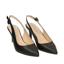 Slingback negro, tacón 7 cm, Zapatos, 172133673EPNERO035, 002a