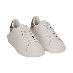 Baskets blanc / or, Chaussures, 172602011EPBIOR035, 002 preview