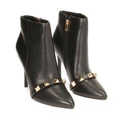 Ankle boots noirs, talon 11 cm , Primadonna, 182146860EPNERO035, 002a