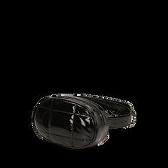 Marsupio nero in vernice, IDEE REGALO, 165108872VENEROUNI, 002a