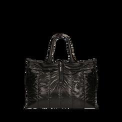 Borsa duvet nera in tessuto , Primadonna, 165122907TSNEROUNI, 001a