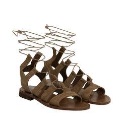 Sandales en daim taupe, Primadonna, 178100348CMTAUP035, 002a