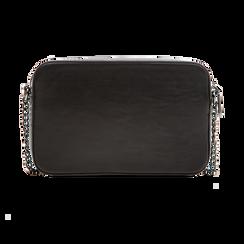 Camera bag nera con tracolla, ecopelle, Primadonna, 121818008EPNEROUNI, 002 preview