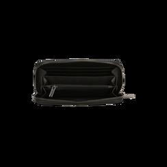 Portafoglio nero in ecopelle  con 14 vani, Borse, 122200896EPNEROUNI, 004 preview