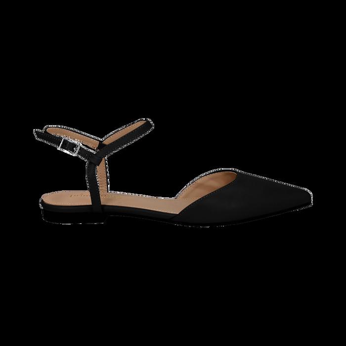 ultime versioni altamente elogiato scarpe da corsa Ballerine slingback nere in eco-pelle