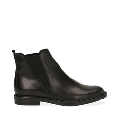 Chelsea boots neri in vera pelle, Scarpe, 147729504PENERO036, 001a
