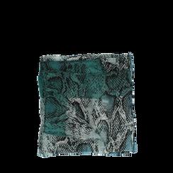 Pashmina verde snake in tessuto , Abbigliamento, 14B491014TSVERD3XL, 001a