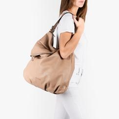 Maxi-bag beige in eco-pelle, Primadonna, 151990171EPBEIGUNI, 002 preview