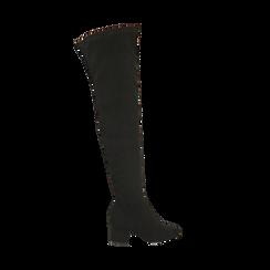 Stivali overknee neri, tacco 6,50 cm , Primadonna, 164911283MFNERO038, 001 preview