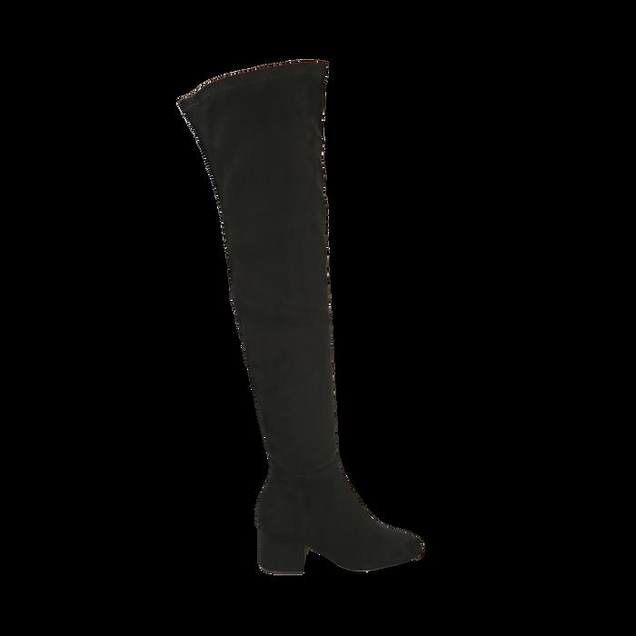 Stivali overknee neri, tacco 6,50 cm , Primadonna, 164911283MFNERO036