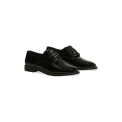 Stringate derby vernice nera tacco basso, Primadonna, 120618121VENERO035, 002