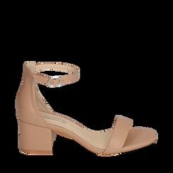 Sandalias en eco-piel color nude, tacón 5,50 cm, 152707031EPNUDE035, 001a