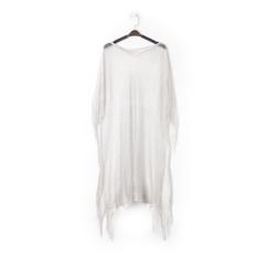 Poncho argento in tessuto laminato , Abbigliamento, 13B445079LMARGEUNI, 001a