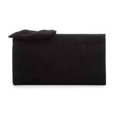 Pochette nera in microfibra con fiocco, Borse, 132300508MFNEROUNI, 003 preview