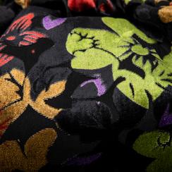 Pochette nera a secchiello in velluto fiorato, Saldi Borse, 123308776TFNEROUNI, 003 preview