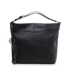 Bolso grande trenzado negro, Primadonna, 165700319EINEROUNI, 001a