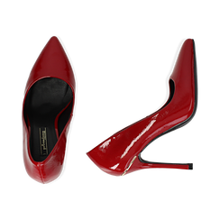 Décolleté rosse in vernice, tacco 11 cm , Scarpe, 142146861VEROSS035, 003 preview